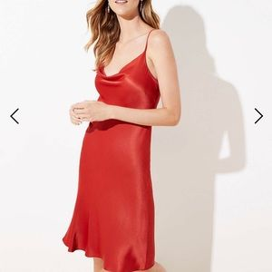 Satin petite slip dress